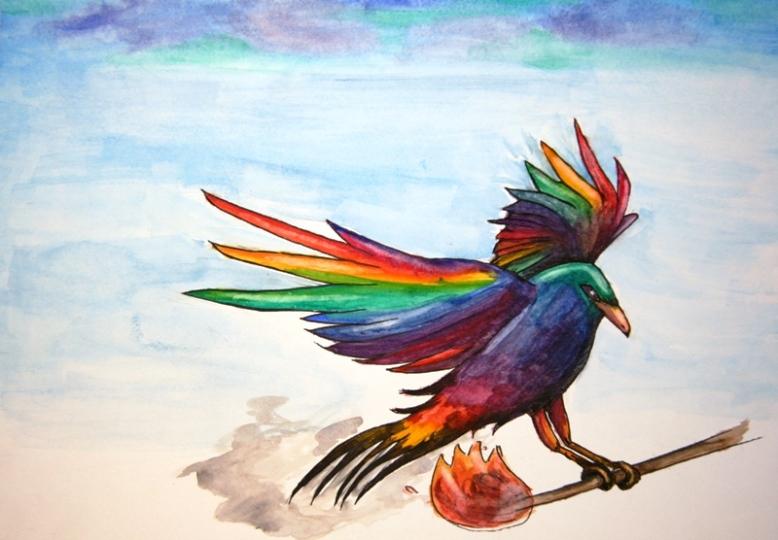 rainbow-crow