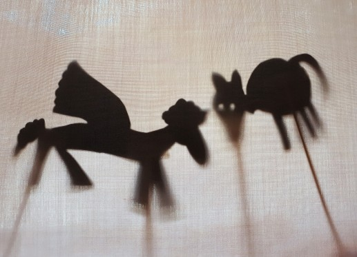 Gramp pegasus and cat shadow