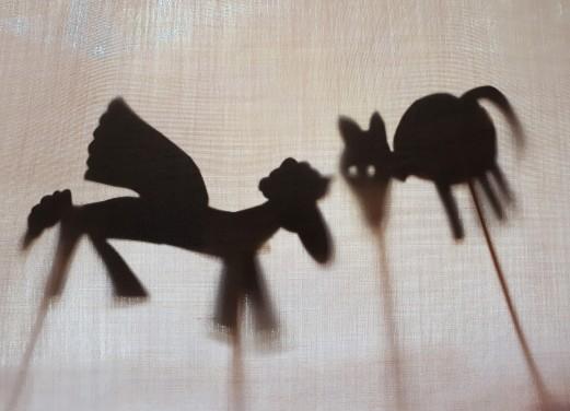 Gramp pegasus and cat shadow
