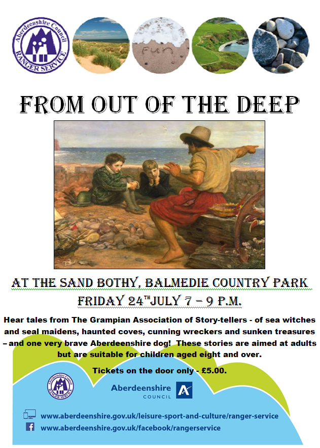 From out of the deep storytelling balmedie July 2020